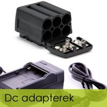 DC adapterek