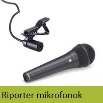 Riporter mikrofonok